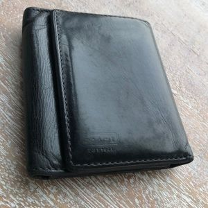 Men's Coach Black Leather Wallet